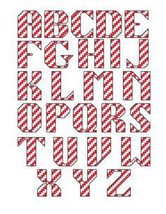 Candy candy stripe Christmas cross stitch by CraftwithCartwright £3.00