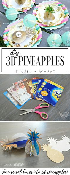 These would be so cute for a tropical bridal shower or even wedding reception! Adorable DIY Pineapples