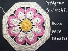 Crochê - Octógono de Barbante - Base para Tapetes (+playlist)