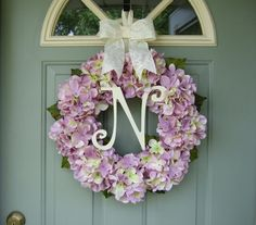 Summer Wreath Spring Hydrangea Wreath Summer by countryprim
