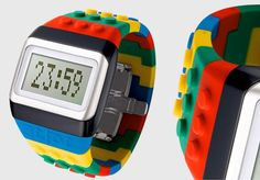 Modern lego watch created by Fashion designer JC de Castelbaja