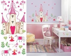 Girly Fairy Princess Wall Mural Transform Kids Bedrooms With This   Wallpaper