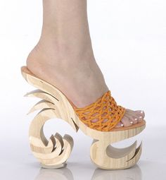Unique wooden shoes