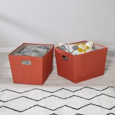 """Storage bins perfect for any storage needs and any room in the home Carry bins from room to room with easy-carry handles Durable polyester construction stands up to heavy items such as books Bold look of storage containers adds design element to any room Coordinate with other Honey-Can-Do storage bins in various shapes and sizes Care Instructions: Wipe clean with damp cloth Dimensions of each bin: 15""""L x 18.5""""W x 13""""H This 2-pack of large storage bins with with handles is your clearest path… Large Storage Bins, Storage Containers, Getting Organized, Your Space, Cleaning Wipes, Playroom, Kids Room, Honey, Packing"""