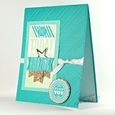 Amazing Birthday Handmade Card Sparkling With Gold And Bright Blues   cardsbylibe - Cards on ArtFire