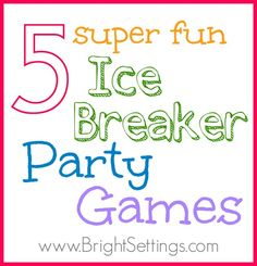 Ice breaker party games are a fun way to introduce guests to one another and allow everyone to feel more comfortable. Here are five games that will get your event off to the right start and get people talking. Youth Games, Fun Games, Hygge, Ice Breaker Games For Adults, Rainy Day Games, Picnic Activities, Wedding Party Games, Wedding Ideas, Bingo Sheets