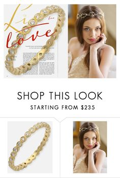 """be my bride"" by thevintagecinderella ❤ liked on Polyvore featuring Brides & Hairpins and ByNatureJewellery"