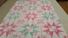 Pretty Pink & Aqua Quilt Blocks Finished! |
