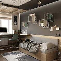 We have tips to decor your apartment, Small living room one of the best one apartment decor Boy Sports Bedroom, Kids Bedroom, Bedroom Ideas For Teen Boys, Student Room, Cama Box, Teenage Room, Small Living Rooms, Interior Design Living Room, House Design