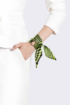 Nina Silk Wrap Bracelet.Wrist scarf.
