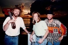 Barry, Robin & Maurice at the dock of Robin's Florida home