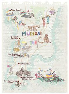 Mumbai map by Robert Littleford. July 2016 issue
