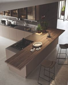 55 modern kitchen ideas decor and decorating ideas for kitchen design 2019 26 Luxury Kitchen Design, Kitchen Room Design, Kitchen Cabinet Design, Home Decor Kitchen, Modern House Design, Interior Design Kitchen, Home Kitchens, Kitchen Ideas, Kitchen Modern