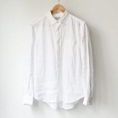 Manual Alphabet マニュアル・アルファベット Frech linen bd shirt フレンチ リネン ボタン ダウン シャツ