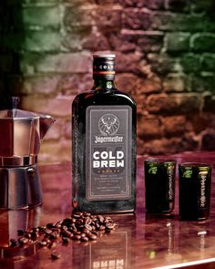"""Jägermeister Launched A Cold Brew Coffee Flavor Best Served As An """"Ice Cold Shot""""Delish Coffee Presentation, Cold Brew Coffee Recipe, Cheers, Coffee Counter, Coffee Mix, Coffee Illustration, Tea Packaging, Brewing Tea, Bebe"""
