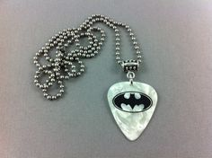 BATMAN Guitar Pick Ballchain Necklace - BC041 on Etsy, $5.54