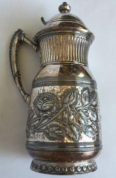 James W Tufts Quadruple Silverplate Pitcher Rose Antique 7 Inches Silver Plate in Antiques, Silver, Silverplate | eBay