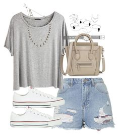 """""""Outfit for summer"""" by ferned ❤ liked on Polyvore featuring Topshop, Chicnova Fashion, Converse, Forever 21 and Witchery"""