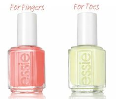 "Two Nail Polish Combos to Try this Summer: essie ""Chillato"" and ""Peach Side Babe""  