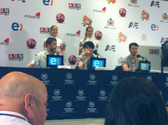 Jonas Brothers at press conference in Vina Del Mar, Chile. February 26, 2013 #JB2013