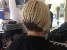 Get your shorter bob really noticed with some creative colour