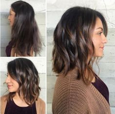 Chop and Balayage By Butterfly Loft stylist Jacqui jackss Hair Color And Cut, Haircut And Color, Lob Haircut Thick Hair, Balayage Hair, Ombre Hair, Bayalage, Medium Hair Styles, Curly Hair Styles, Short Hair Cuts