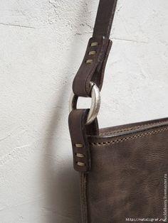 Крепление ручек и разных деталей на кожаных сумках