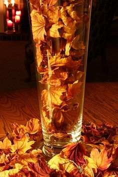 fall leaves centerpieces!!