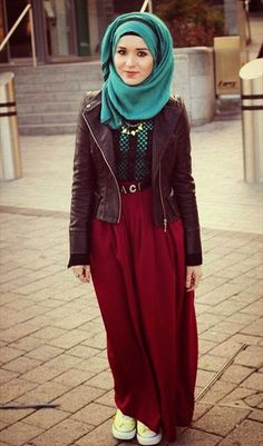 now a days girls are more concern about fashion as compare to hijab. but they are best at balancing both hijab and fashion. Islamic Fashion, Muslim Fashion, Modest Fashion, Girl Fashion, Fashion 2015, Fashion Ideas, Fashion Black, Korean Fashion, Style Fashion