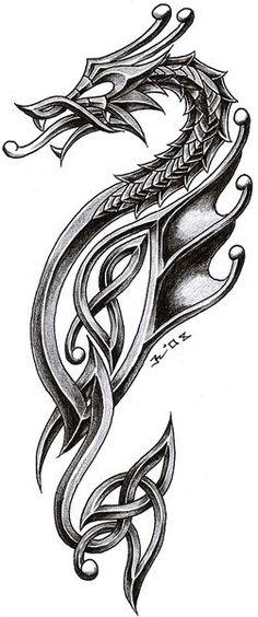 tribal biomechanic dragon