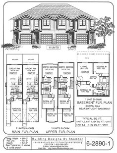 8 unit plan based on one of our most popular layouts for for Cost to build 4 plex