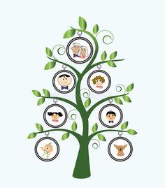 Download Árvore de família ilustração do vetor. Imagem de menina - 13907096