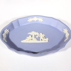 Wedgwood Blue Jasperware Pin Dish ***ALSO SEE Vintage Jewelry at: http://MyClassicJewelry.com/shop