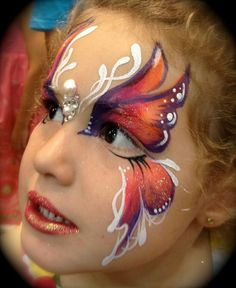 Face painting examples are very useful in the art of face painting. One of the greatest things about face painting examples, is that there are many reference Face Painting Supplies, Face Painting Designs, Paint Designs, Butterfly Face Paint, Butterfly Eyes, Girl Face Painting, Painting For Kids, Face Paintings, Eye Makeup Designs