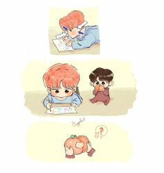 Its a bunch of Jikook fanarts that is totaly not mine but credits to … # Fanfic # amreading # books # wattpad Jikook, Fanart Bts, Vkook Fanart, Bts Chibi, Vmin, K Pop, Bts Cute, Fandom Kpop, Bts Maknae Line