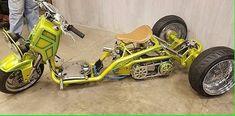 Custom Mini Bike, Custom Moped, Custom Trikes, Custom Bobber, Trike Chopper, Trike Motorcycle, Honda Scrambler, Honda Ruckus, 150cc Scooter
