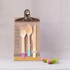 Schöne Ideen mit Holzlöffeln, Einladung zum Essen, Papierprojekt, Momentstempel