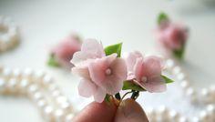 Ohrhänger - Ohrringe mit Rosa Hortensien.  Blume Ohrringe - ein Designerstück von DecorUA bei DaWanda