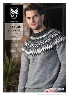 Sport - Ravelry: Rallar-genser pattern by Dale Garn Fair Isle Knitting Patterns, Knitting Designs, Knit Patterns, Knitting Charts, Icelandic Sweaters, Wool Sweaters, Nordic Sweater, Men Sweater, Man Crafts