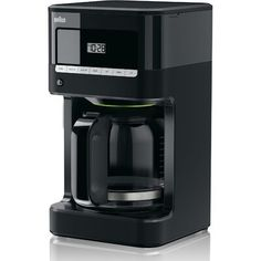 Enjoy a refreshing cup of coffee at your office or home by using this Fully programmable Braun BrewSense Drip Coffee Maker in Black. Pod Coffee Makers, Best Coffee Maker, Cold Brew Coffee Maker, Drip Coffee Maker, Coffee Lovers, Cappuccino Maker, Cappuccino Machine, Espresso Maker, Coffee Machine