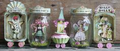Debrina Pratt land of enchantment Fanciful creations herald magic and fairies, with the lustrous patina of age, each has a bright dose of imagination. Altered Tins, Altered Art, Paper Art, Paper Crafts, Diy Crafts, Paper Dolls, Art Dolls, Diy Cadeau, Tin Art