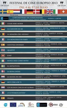 Festival de Cine Europeo  del 4 al 17 de julio, Cine Magaly  Entrada: General ¢2000 / Estudiantes y ciudadanos de oro, ¢1500