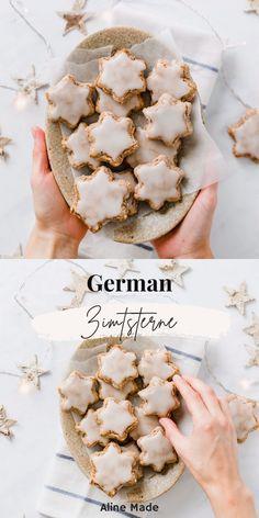 Healthy Christmas Cookies, German Christmas Cookies, Easy Christmas Cookie Recipes, Holiday Snacks, Vegan Christmas, Holiday Cakes, Star Cookies, Cookies Ingredients, Vegan Sweets