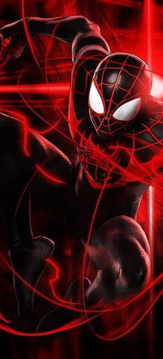 Miles Spiderman, Comics Spiderman, Black Spiderman, Spiderman Spider, Amazing Spiderman, Miles Morales Spiderman Costume, Iron Man Hd Wallpaper, Avengers Wallpaper, Mobile Wallpaper