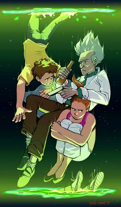 """""""M-Morty you gotta stop screaming Morty, there's noth-BURP-nothing we can do now, we've almost reached terminal velocity. J-just keep your arms and legs inside the portals if you like being attache..."""