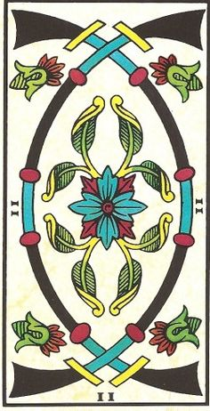 Arcano Menor - II de Espadas Carta Tarot para 03 e 04-01-2015 O fim-de-semana apresenta-se meio sorridente. Aproveitem a energia positiva e réstia de boa d