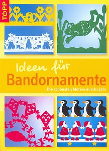 Ideen fur Bandornamente -- paper cutting with patterns. Book Crafts, Diy And Crafts, Crafts For Kids, Paper Crafts, Free Magazines, Magazines For Kids, Kirigami, Magazine Crafts, Silhouette Curio