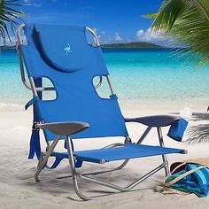Blue Back Beach Chair Backpack Outdoor Folding Patio Camping Portable Wearever