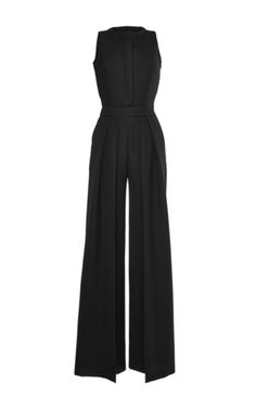 Pleated Wide Leg Wool Jumpsuit by MARTIN GRANT for Preorder on Moda Operandi