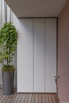 Outside Storage, Outdoor Storage, Storage Design, Smart Home, Outdoor Furniture, Outdoor Decor, Outdoor Spaces, Garage Doors, House